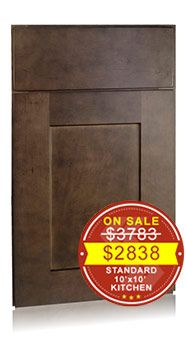 Shaker Maple Charcoal Discount Kitchen Cabinets