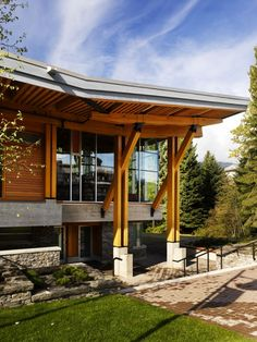 Innovative Whistler Public Library Design by Hughes Condon Marler Architects Architecture Interior Pictures and Images Whistler Public Libra...