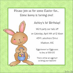 Beach birthday party invitation wording httpwww easter party invitations bunny with basket httppartyinvitationwording stopboris Image collections
