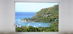 Marigot Bay in Roller Shades. What a way to wake up too Casa-candy.com