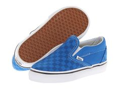 Vans Kids Classic Slip-On (Toddler) (Tonal Checkerboard) Skydiver