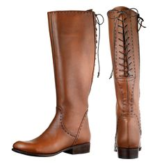 Womens Tall Lace Up Riding Boots 108