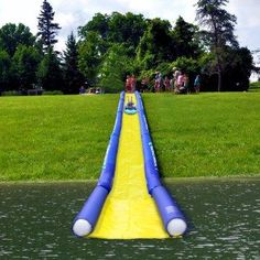 Turn the lake into a water park!