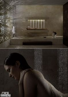 Horizontal Shower-just for my husband