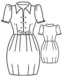 Russian site with illustrations showing how to draft this cute dress- this would help me look like I actually have hips.