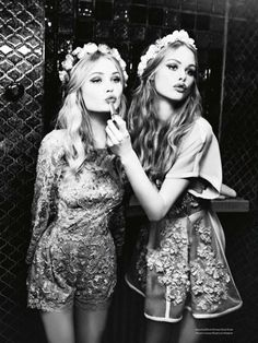 """Better Fun"" Camilla Christensen and Emma Stern by Ellen von Unwerth for Vs Magazine S/S 2014"