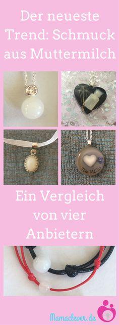 Muttermilchschmuck ist der neueste Trend: Ein Vergleich von vier Anbietern im deutschen Raum. #schmuck #Stillen #erinnerungen #vergleich
