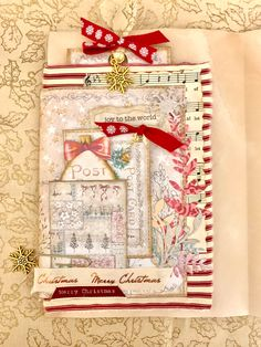 Journal Pages, Junk Journal, Journals, Joy To The World, Journalling, Scrapbook Albums, Christmas Themes, Wraparound, Paper Cutting