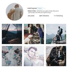 Nathan Drake Instagram by bio--shocked on Tumblr (Uncharted)