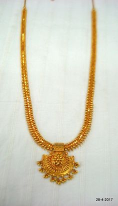 Items similar to vintage antique gold necklace long necklace chain handmade on Etsy Gold Chain Design, Gold Bangles Design, Gold Earrings Designs, Gold Jewellery Design, Necklace Designs, Designer Jewellery, Necklace Chain, Gold Necklace, Gold Mangalsutra Designs