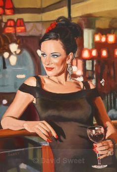 Vaudeville VIII - Paintings New Beginnings, Figurative Art, Peplum Dress, Mona Lisa, Artwork, Paintings, Fashion, Moda, Work Of Art