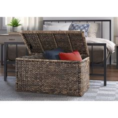 Shop The Gray Barn Bramble Abode Farmhouse Collection - Free Shipping Today - Overstock - 25618207 - Coffee Table - MDF Furniture, Living Room Collections, End Of Bed Bench, Herringbone Wood, Pillow Storage, Sofa End Tables, The Gray Barn, Wicker, Storage Ottoman