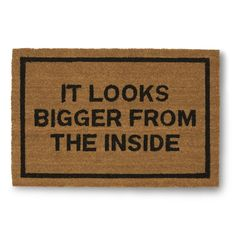 Clever Doormats It Looks Bigger From The Inside Brown Coir Doormat (20in x30in) (20 Inches Tall by 30 Inches Wide)