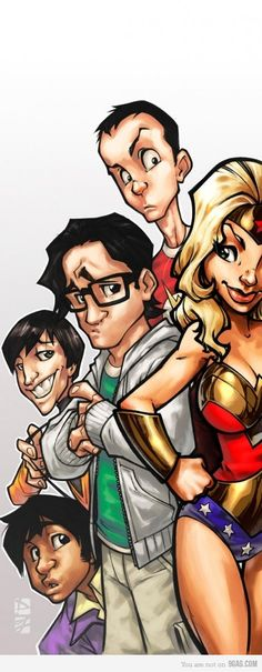 "You know what Sheldon's thinking.... ""Wonder Woman isn't blonde!"""