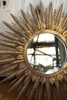 Gold Sun Mirror-i want one! Sun Mirror, Im Coming Home, My House, Town House, Console, My Dream Home, Interior Inspiration, Vintage Shops, Home Furnishings