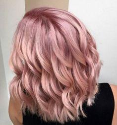 Cheveux colorés, pink champagne hair