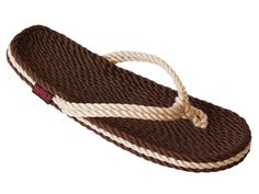 Women's Rope Flip Flop in Brown & Beige