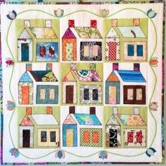 Small version of the traditional schoolhouse block done in applique.