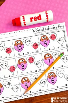 On the lookout for fun and engaging activities for February? Then you're going to love these NO prep math and ELA games! These are perfect for your Kindergarten students, but they'll also work with in a PreK or 1st grade classrooms! {Homeschool families will love these too!} Click through to check them out and see how they will fit right in to the Groundhog Day, Valentine's Day, and Dental Health activities in your primary classroom.  #noprep #kindergarten #firstgrade #theprintableprincess