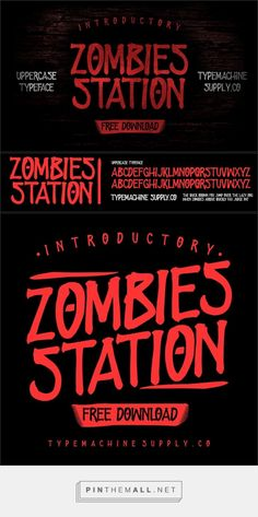 ZOMBIES STATION Font - Befonts.com... - a grouped images picture - Pin Them All Logo Type, Zombies, Fonts, Movie Posters, Pictures, Image, Logo, Photos, Font Downloads
