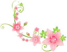 Pink Floral Decoration PNG Clip-Art Image