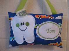 Tooth Fairy pillow Race Car tooth pillow-Car pillow-boys by 4Brig