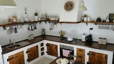 Moja milovana kuchyna/my lovely kitchen hand made, farmhouse, country kitchen, w… - country kitchen farmhouse Small Cottage Kitchen, Country Kitchen Farmhouse, Home Decor Kitchen, Rustic Kitchen, Interior Design Kitchen, Home Kitchens, Kitchen Ideas, Farmhouse Sinks, Country Kitchens