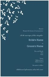 Wedding Invitations Invitations & Announcements black blue