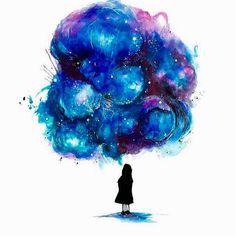 """Imagination is a glorious wonder."" ~ Lailah Gifty Akita illustration: Marco Nabi"