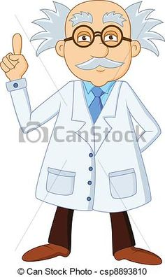 Funny scientist Clip Art Free | Clipart of Funny scientist cartoon character csp8893810 - Search Clip ...