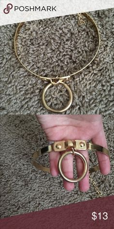 Windsor Gold Choker New without tags gold choker from Windsor Has an adjustable clasp. Lower price on Ⓜ WINDSOR Jewelry Necklaces