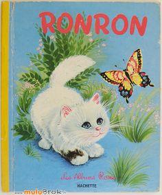 Livre Ancien RONRON le petit chat (1963) Albums Roses sur www.muluBrok.fr vintage