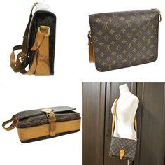 Louis Vuitton Vintage Leather Monogram Cross Body Bag