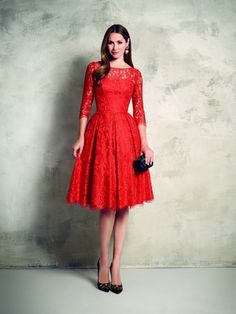Find More Prom Dresses Information about Elegant Short A Line Red Prom Dresses 2015 Vestido De Festa With Sleeve Custom Made Vintage Formal Beautiful Women Evening Gowns,High Quality prom dress fashion show,China prom dresses with big bows Suppliers, Cheap prom dresses ruffle from AngelForever on Aliexpress.com