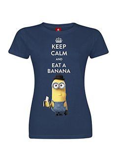 Minions Keep Calm And Eat A Banana Maglia donna blu navy XL Minions http://www.amazon.it/dp/B00W9Q1WYQ/ref=cm_sw_r_pi_dp_BkI4vb1H3XGW5