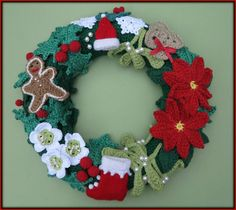 Nice traditional crochet wreath. Would love to make one like this not just alternative colours.