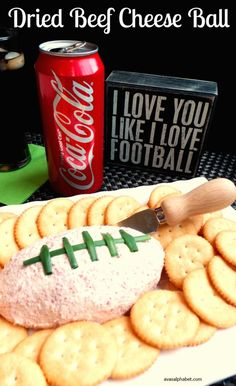 Are you looking for a great game day appetizer? Try this delicious dried beef cheese ball that is easy to make and sure to please. Pair it with an ice-cold Coca-Cola and you have the perfect game day snack! #DGUnitedByFootball #CollectiveBias #Ad