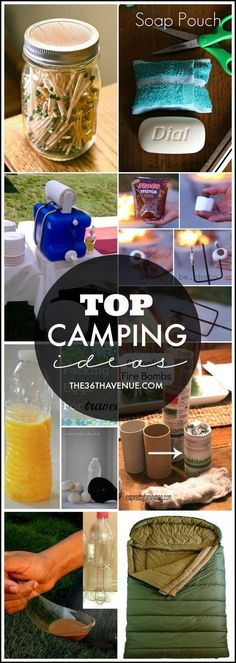 Top Camping Ideas at the36thavenue.com Pin it now and make them later | life hacks | diy