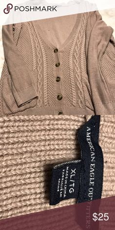 American Eagle Brown Cardigan XL For sale is an American Eagle brown cardigan in size XL. This was maybe worn 2 or 3 times. It's in great condition! American Eagle Outfitters Sweaters Cardigans