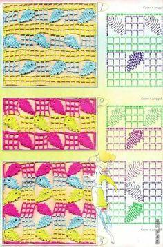 Crochet Stitches Sp : M?s de 1000 im?genes sobre Croche / Pontos (1) - Crochet Stitches ...