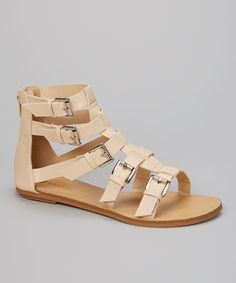 Look what I found on #zulily! Nude Joey Gladiator Sandal by Chase & Chloe #zulilyfinds