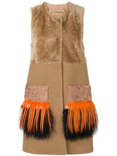 DROME fringed sleeveless fur jacket. #drome #cloth #