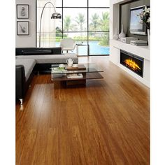 """Envi Exotic Bamboo Caramel Strand Woven 3/8"""" x 5-inch EZ Click Flooring (26.05 Square Feet) 