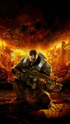 Gears of War. Played the first game on xbox360 when it first came out.