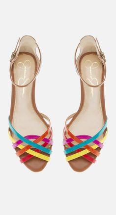 Rainbow strap flats