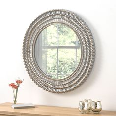 Seville Grey and Brushed Gold Round Wall Mirror - x - , available to buy online or at Choice Furniture Superstore UK on stockist sale price. Get volume - discount with fast and Free Delivery. Funky Mirrors, Mirrors For Sale, Grey Mirrors, Bedroom Mirrors, Cheap Mirrors, Framed Mirrors, Hallway Mirror, Round Wall Mirror