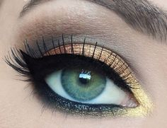 Yellow/Grey/Brown Eye Makeup