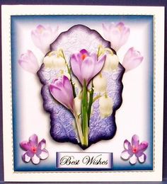 spring flowers on Craftsuprint designed by Terri Hawley - made by Cheryl French - Printed onto glossy photo paper. Attached base image to card stock using ds tape. Edged image with silver peel offs. Built up image with 1mm foam pads. - Now available for download!