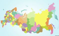 Схематическая карта субьектов РФ [4Mpx]