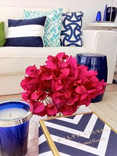 South Shore Decorating Blog: Navy Blue and Hot Pink